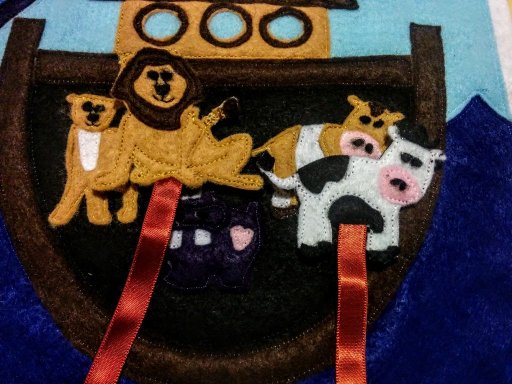 finished-hot-glue-velcro-loose-cow-inside-ark-background-Noahs-ark