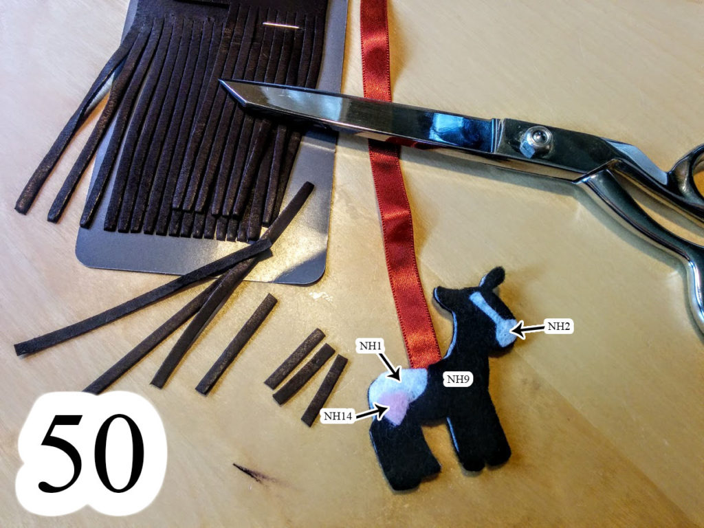 numbered-place-loose-horse-pieces-ribbon-cut-leather-fringe-Noahs-ark